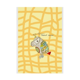 ROBOBO 福ちゃんロボ ピーナッツ柄 Stickable tarpaulin