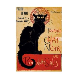 テオフィル・スタンラン 『 黒猫 』 Stickable tarpaulin