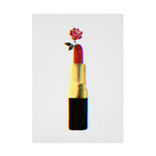 口紅 - rose lip - Stickable tarpaulin