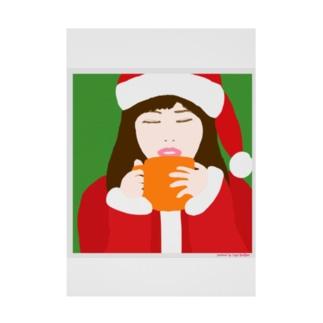 Santa Girl Stickable tarpaulin