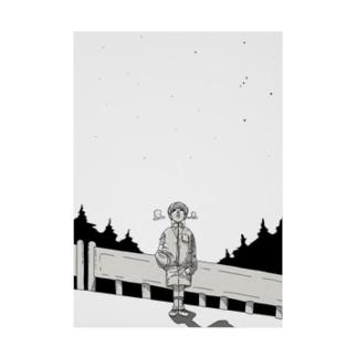 オリオン座の見える夜 Stickable poster