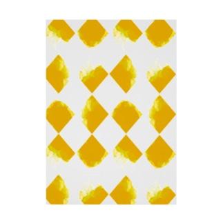 黄ちょきちょき Stickable tarpaulin