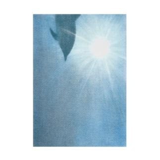イルカの海 Stickable tarpaulin