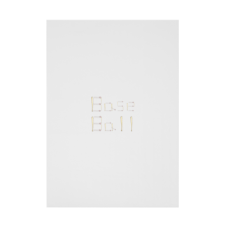 kyonophotoのバットとボールで描いた「BaseBall」 Stickable tarpaulin