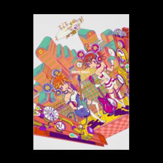 中島みなみのMouse in steampunk city<ネズミはスチームパンクの街に居る> Stickable tarpaulin