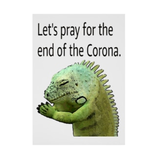 コロナの終息を祈りましょう! Stickable poster