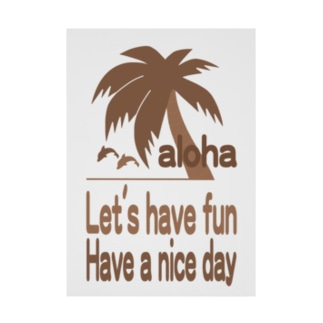 ALOHA Stickable poster