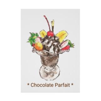 チョコレートパフェ Stickable tarpaulin