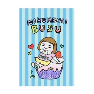 憎めないブスカップケーキ Stickable poster