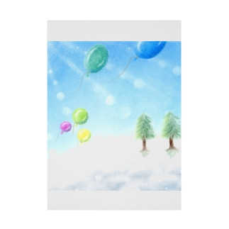 大空へ-Winter Stickable tarpaulin