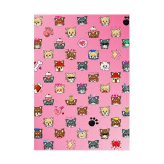 荒ぶるチワワ ピンク Stickable poster