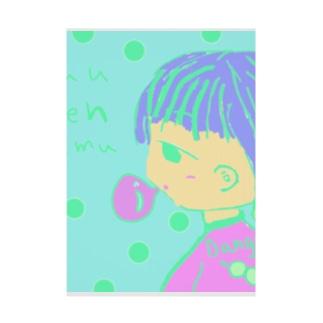 ガムフーセン Stickable poster