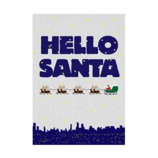HELLO SANTA Stickable poster