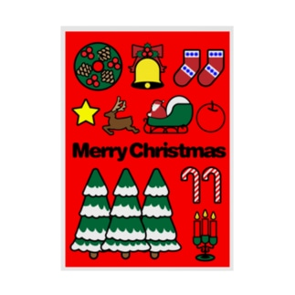 Merry Christmas Stickable poster