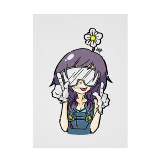 お花畑ちゃん Stickable poster