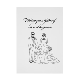 Wishing you a lifetime of love and happiness. Stickable poster