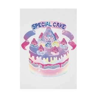 宇宙(そら)いちごのスペシャルケーキ Stickable tarpaulin