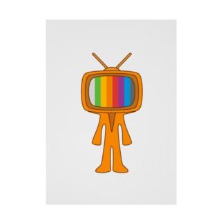 Mr.TV HEAD 70s Stickable poster