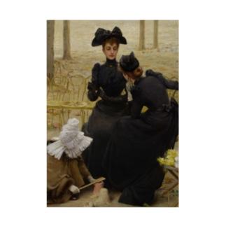 世界の絵画アートグッズのヴィットリオ・マッテオ・コルコス 《リュクサンブール公園での会話》 Stickable poster