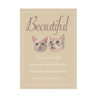 New!!Beautiful×猫 Stickable poster