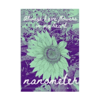 nanometer『いつも心に花を』吸着ポスター Stickable poster