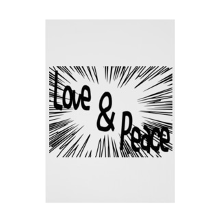 Love&peace ー片面プリント Stickable poster
