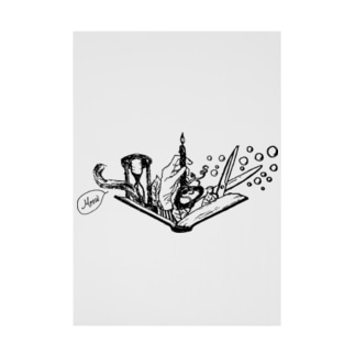 -Noir+Angelique- メモリアルイラスト柄シリーズ Stickable tarpaulin