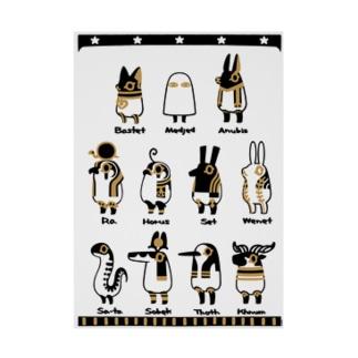 とーとつにエジプト神 11柱 A3 吸着ターポリン