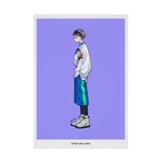 泣き虫と服 4 Stickable poster