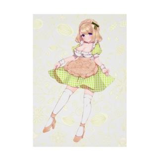 メロンパン イメージキャラ Stickable poster