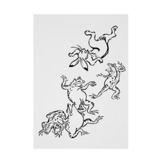 鳥獣戯画フロントメイン Stickable poster