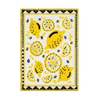 FRUITS PARTY -LEMON- Stickable tarpaulin