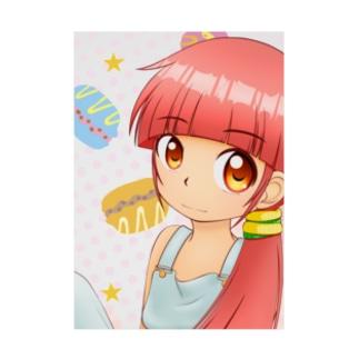お菓子少女 C Stickable tarpaulin