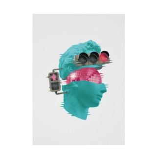 カズシフジイのK collage01 Stickable poster