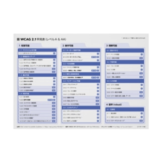WCAG 2.1 早見表ポスター Stickable tarpaulin