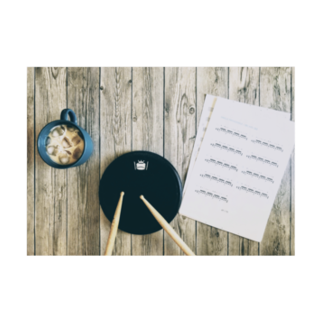 SABUROのドラム パッド練習 Stickable tarpaulinの横向き