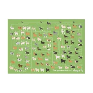 犬の系統図 Stickable poster