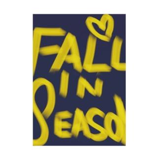 "FALL IN ""SEASON""  Stickable tarpaulin"