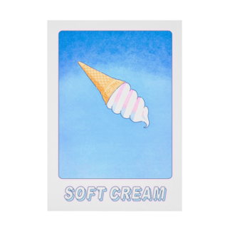 SOFT CREAMキャンバス地ポスターA3・A4 Stickable tarpaulin