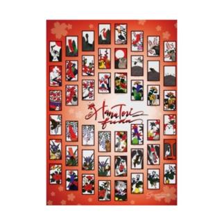 花鳥札(はなとりふだ)全柄ポスター Stickable poster