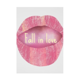 Lips💋 foll in love Stickable Poster
