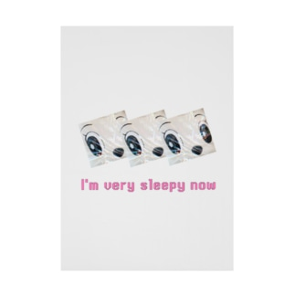 Layered face × I'm very sleepy now Stickable poster