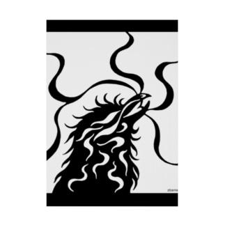 ツバメ堂のカラス(モノクロ) Stickable poster