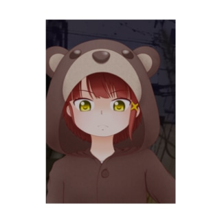 Serial experiments lain -クマさんパジャマ- Stickable tarpaulin