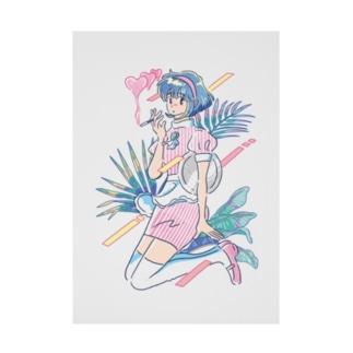 smoking girl Stickable poster