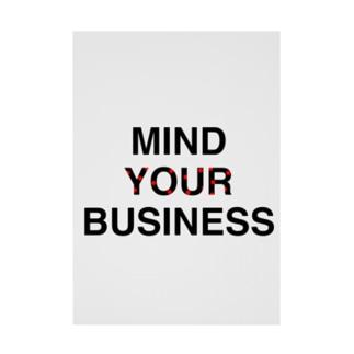 meMEmeのMIND YOUR BUSINESS Stickable tarpaulin