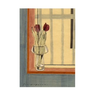 Tulip Backpacker. Stickable poster