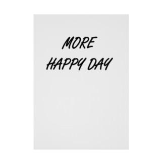MORE HAPPY DAY Stickable tarpaulin