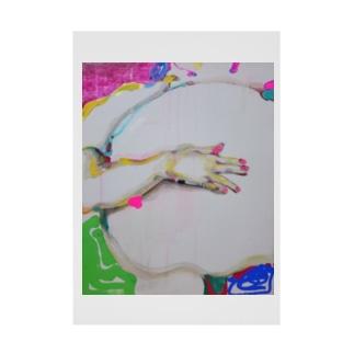 桃色爪と曲がった指 Stickable poster