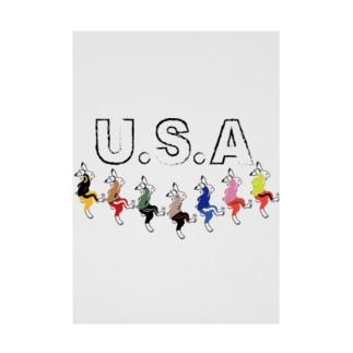USA(うさ)ダンス Stickable tarpaulin